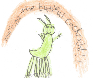Martina the Beautiful Cockroach Artwork by Gracyn